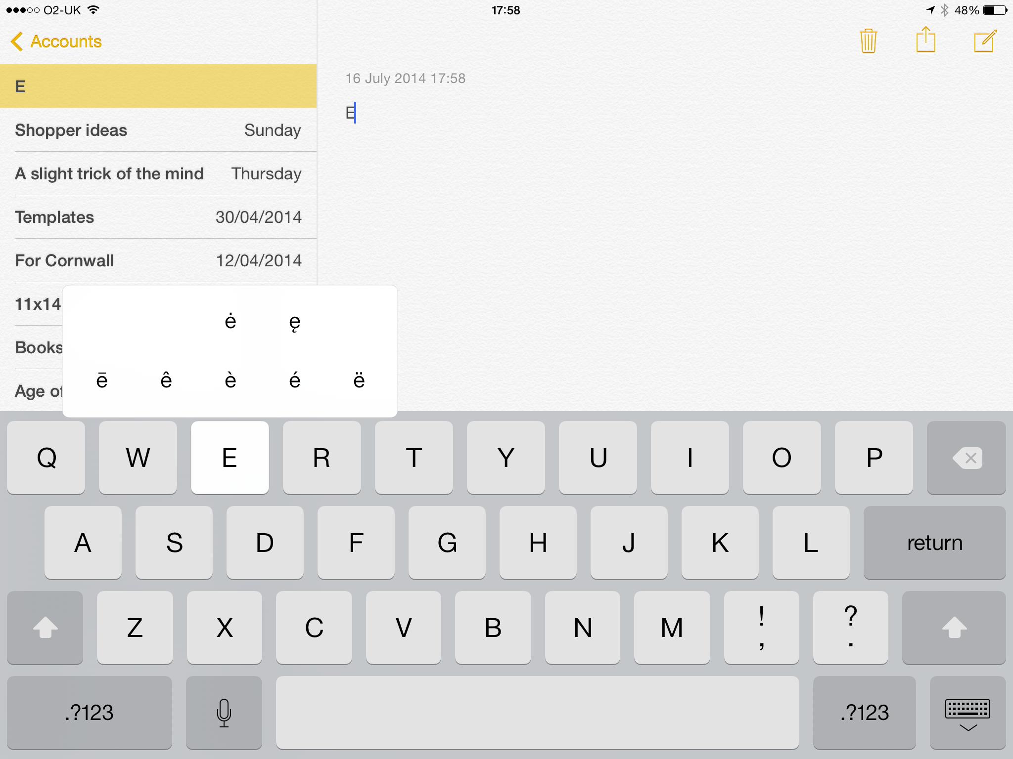 Iphone ipad tips tricks calculator music maps and keyboard ipad keyboard accents biocorpaavc