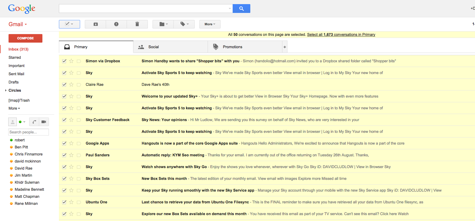 step 1 delete all email from gmail