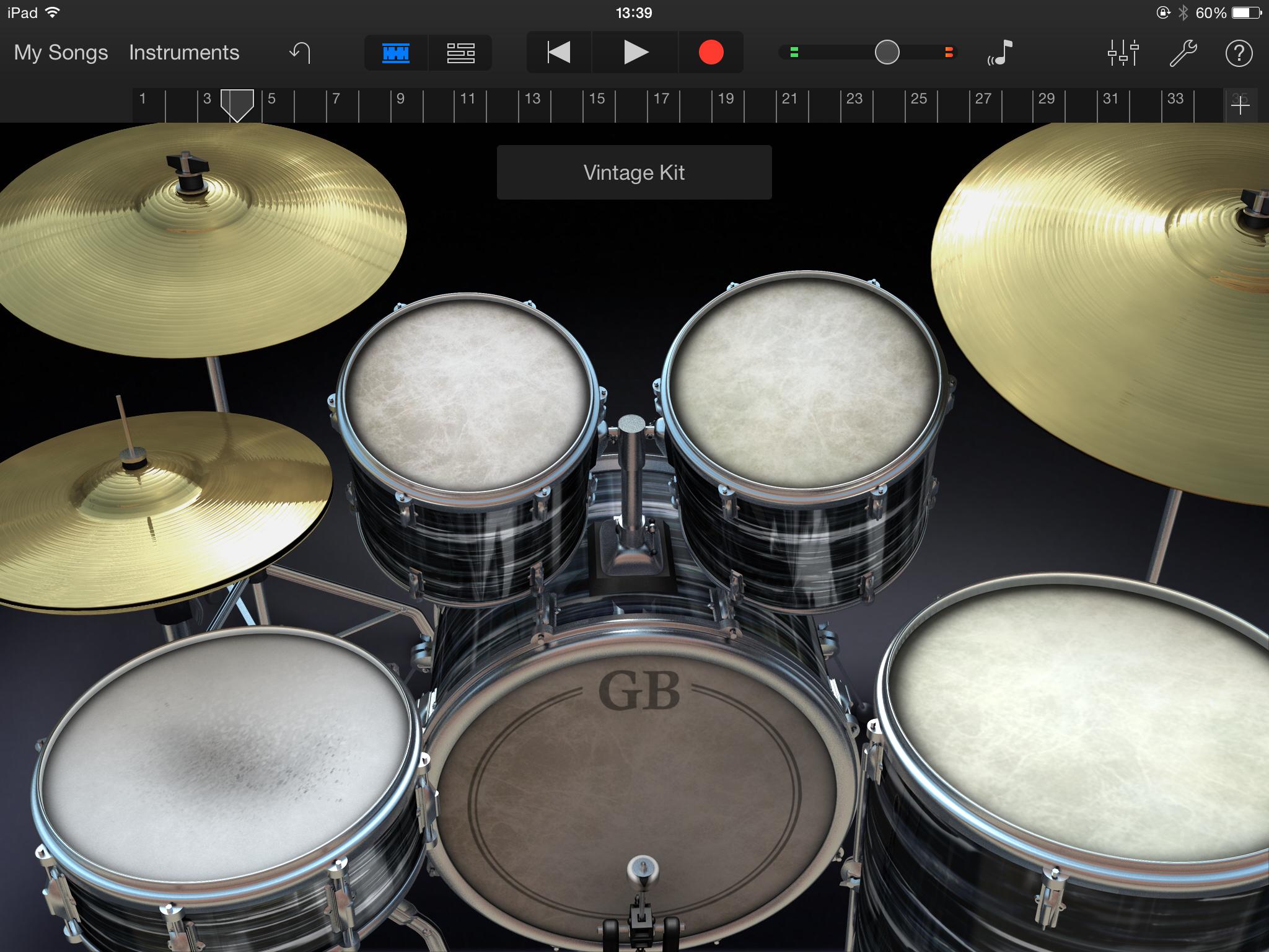 Garageband tutorial how to use garageband on ipad iphone 3 garageband drums baditri Images