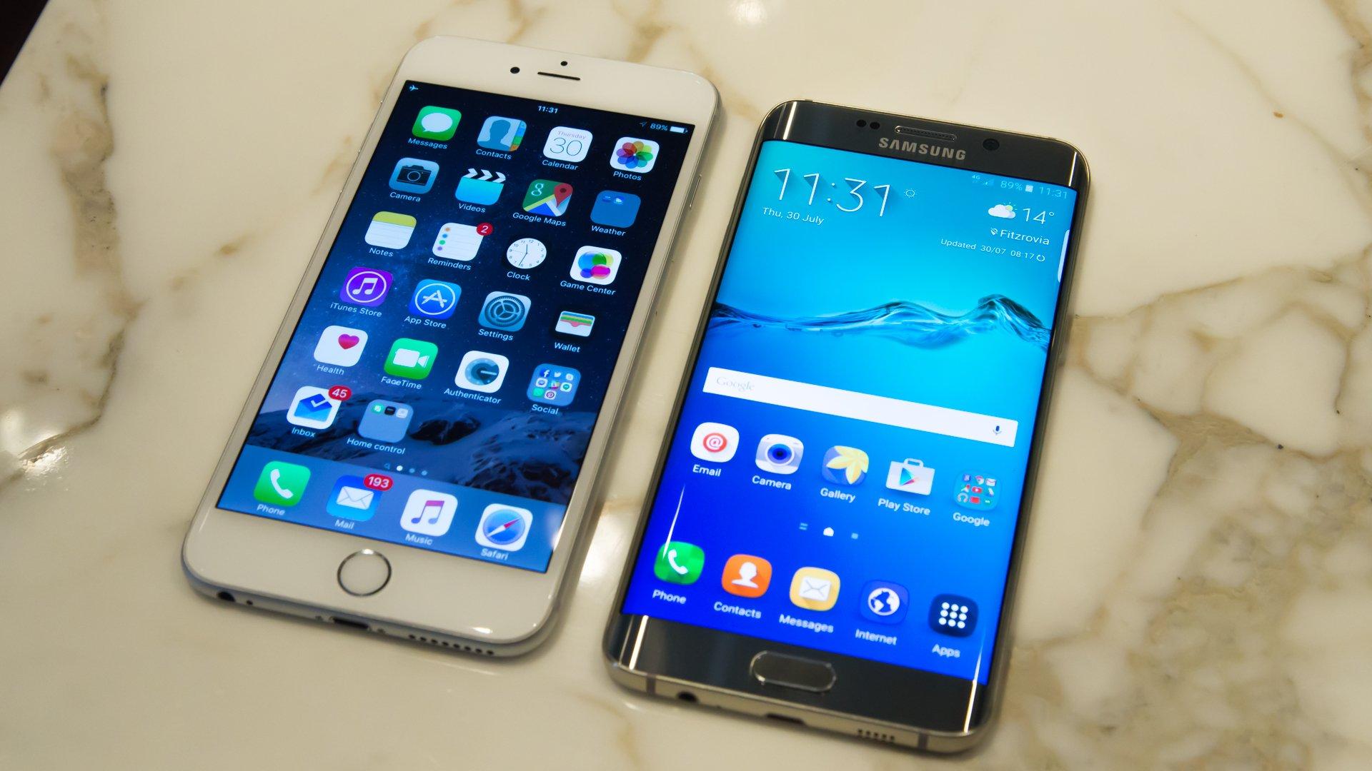 SAMSUNG S6 EDGE VS IPHONE 6 PLUS BATTERY
