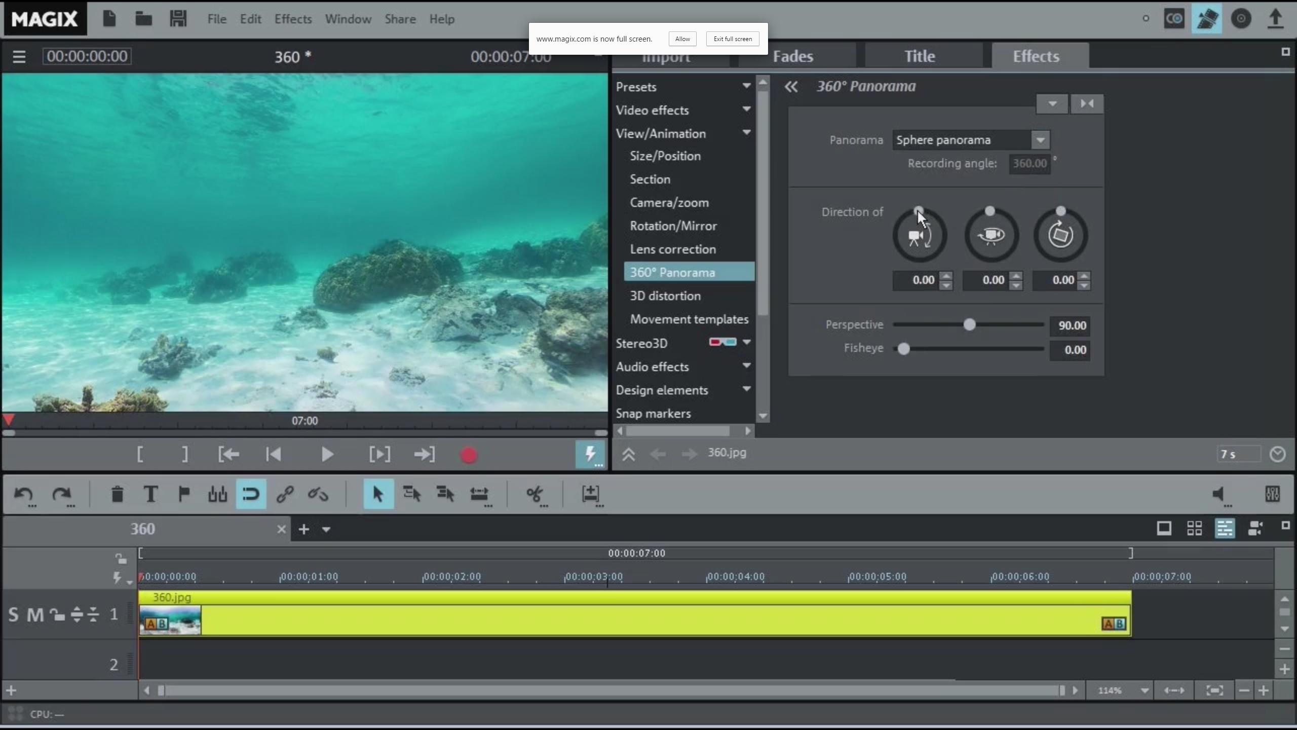Magix Movie Edit Pro 2016 Premium - Panorama, Export and Conclusion ...