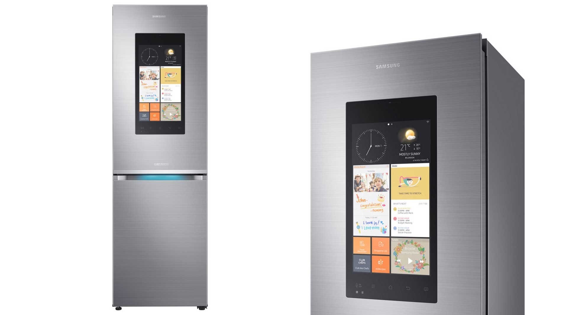 Large Fridges And Freezers Part - 23: Samsungu0027s Family Hub Isnu0027t Your Average Fridge Freezer. Aside From Its  Ample Capacity For Both Chilled And Frozen Products (356 Litres In Total),  ...