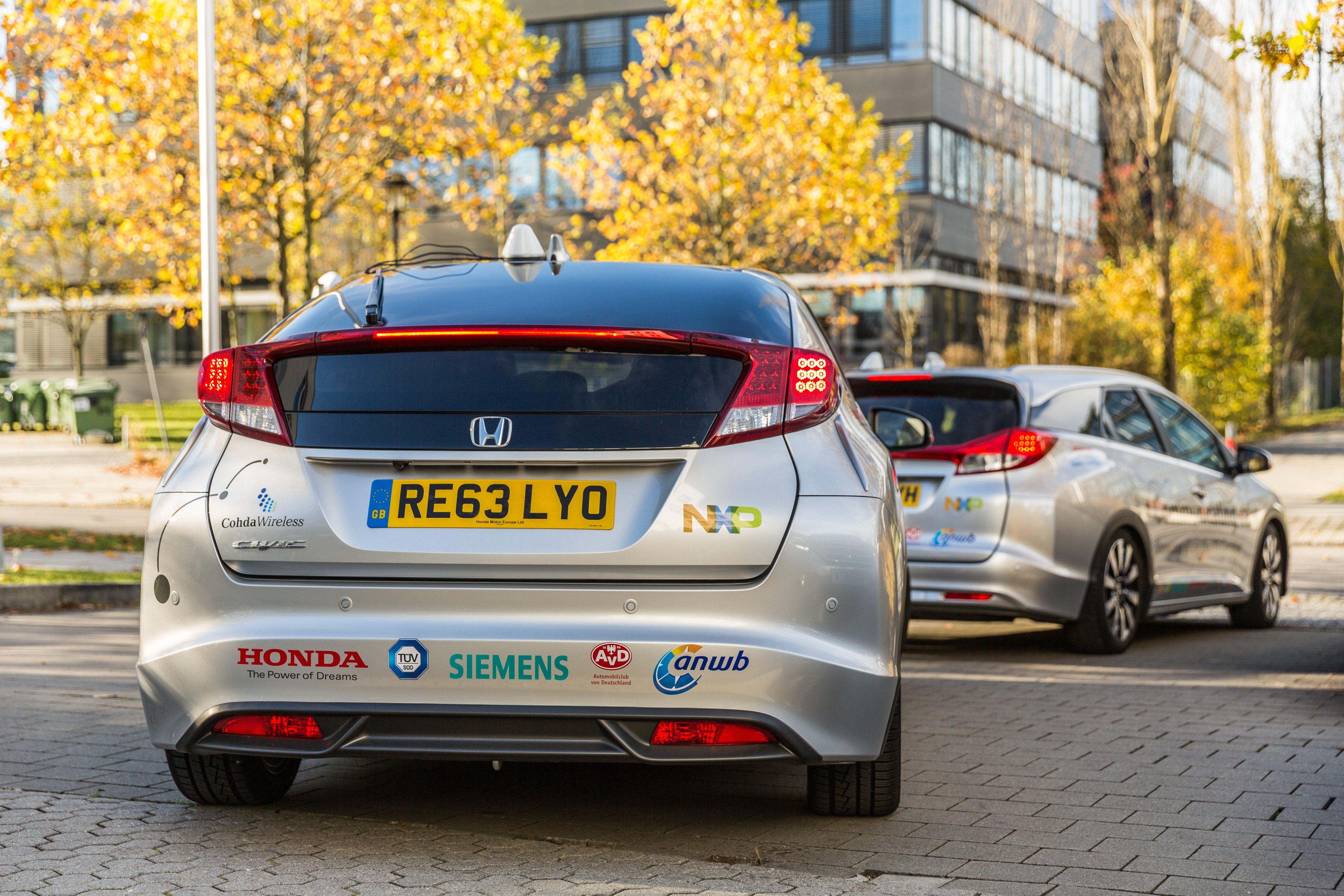 Nxp honda and siemens launch smart car corridor test for Honda smart car