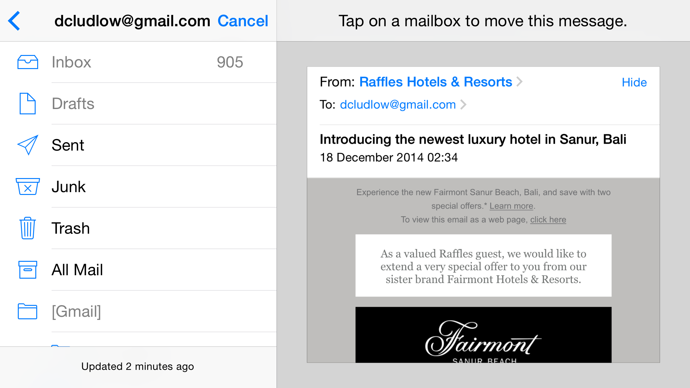 how to add a new email folder on iphone 6
