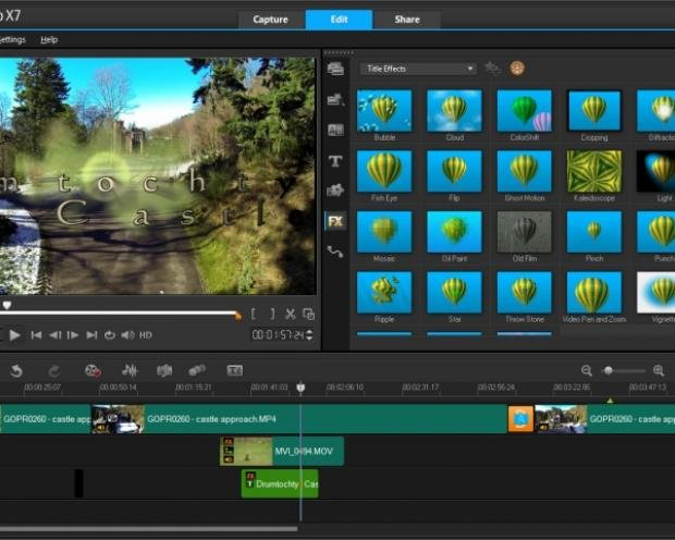 Corel VideoStudio X7 Ultimate: Main Screen