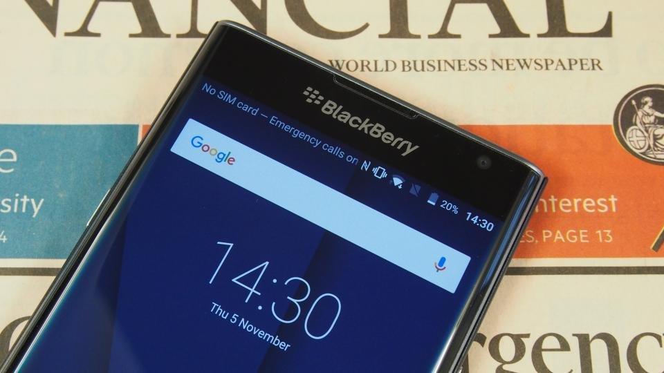 BlackBerry Priv top