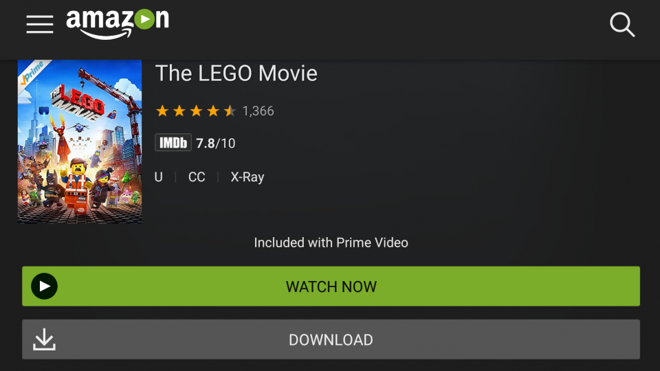 Amazon Prime Film Download