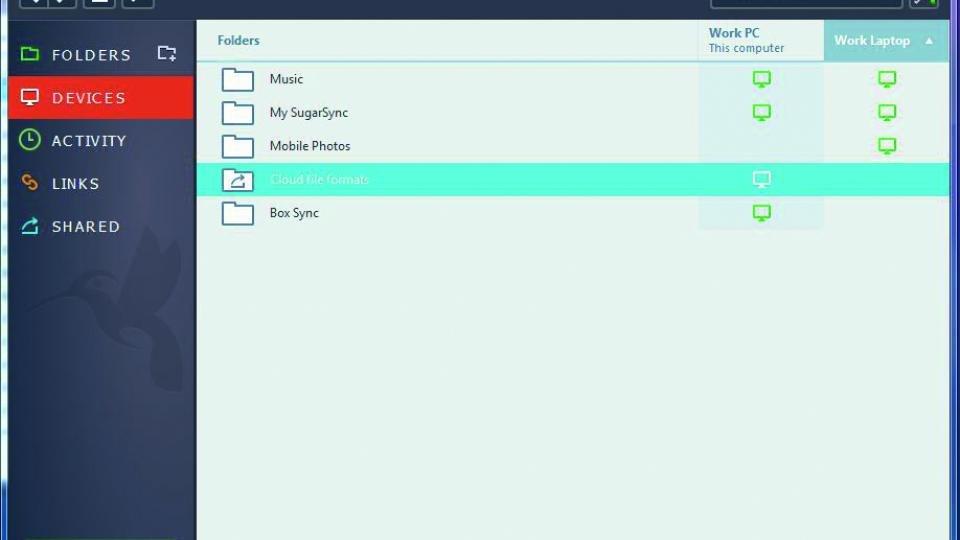 SugarSync desktop