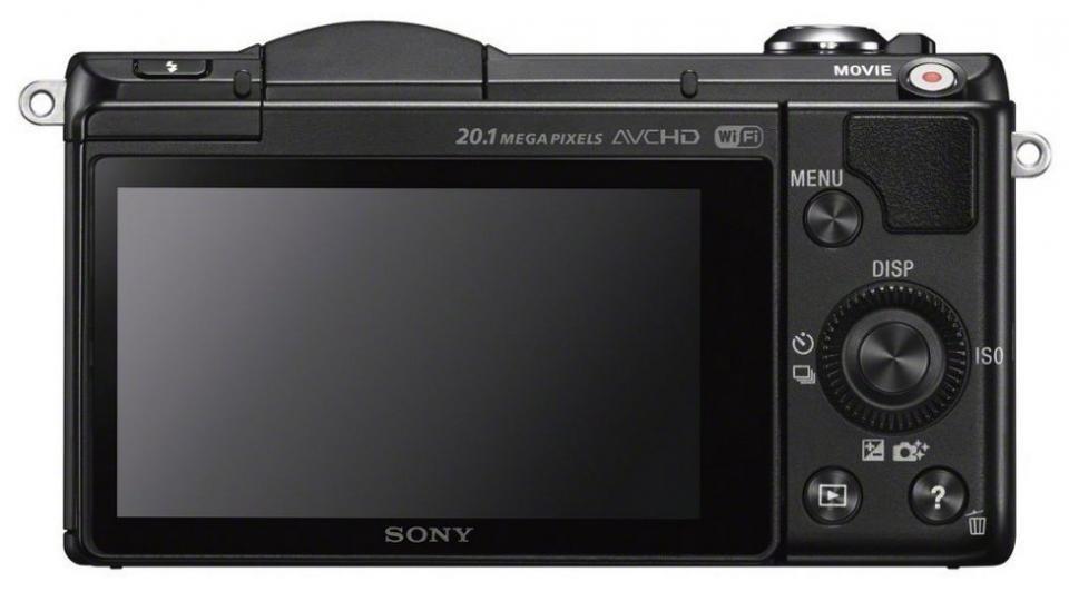 Sony Alpha A5000 back