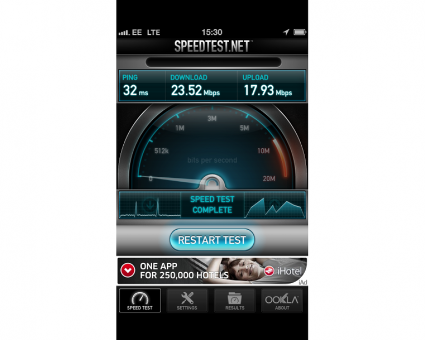Apple iPhone 5 4G Speed