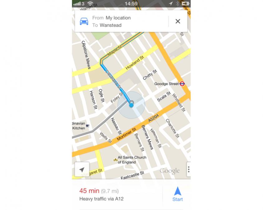Apple iPhone 5 Google Maps