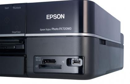 Epson Stylus Photo PX720WD memory card slot