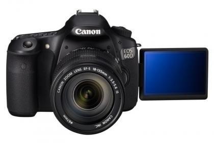 Canon EOS 60D open LCD