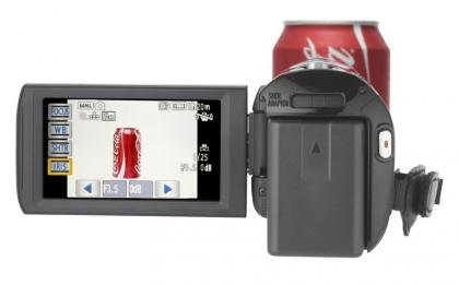 Panasonic HDC-SD90 zoom and LCD