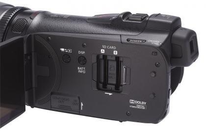 Canon HF G10 memory slots