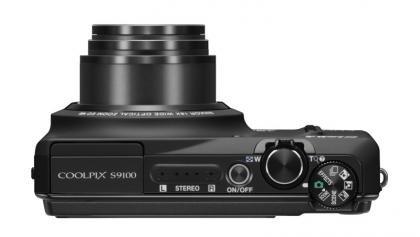 Nikon Coolpix S9100 top