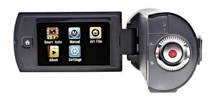 Samsung HMX-Q10 rear LCD