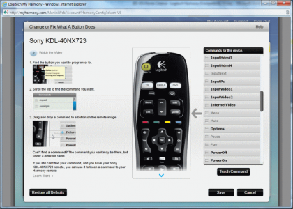 Logitech Harmony 200 software