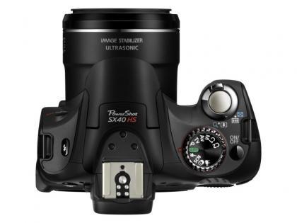 Canon PowerShot SX40 HS top