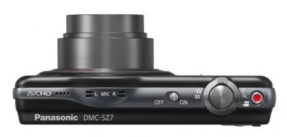 Panasonic Lumix DMC-SZ7 top
