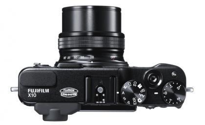 Fujifilm X10 top