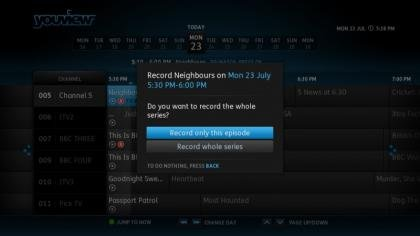 YouView EPG recording