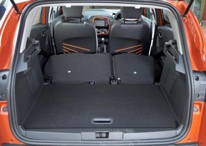 Renault Captur Boot - Rear Seats Down