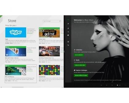 Windows 8.1 split apps