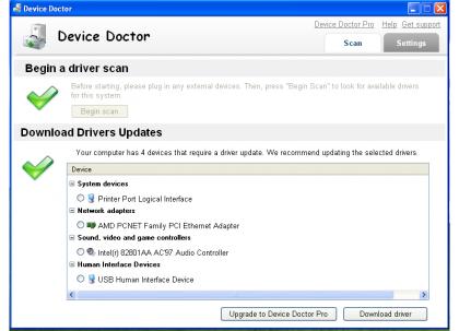 Windows XP Device Doctor