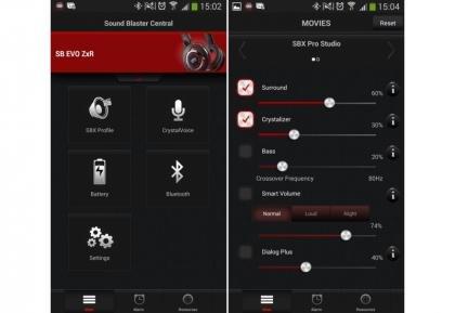 Creative Sound Blaster EVO ZxR app