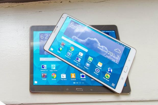 Samsung Galaxy Tab S 8.4 and 10.5 stacked