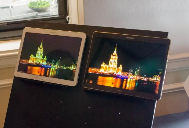 Samsung Galaxy Tab S screen comparison