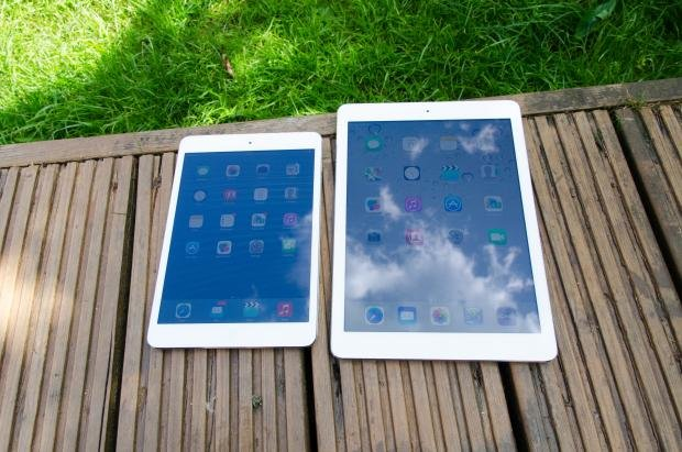 iPad Air and iPad Mini with Retina Display side-by-side