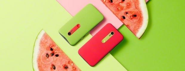 Motorola Moto G 3rd Gen watermelon shot