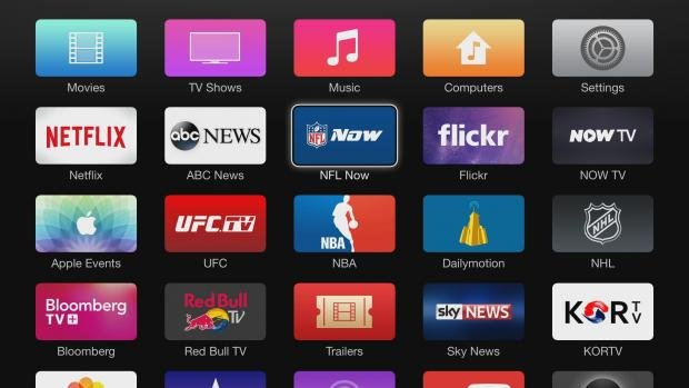 Apple TV Main Menu