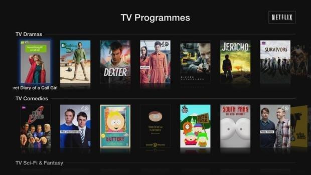 Apple TV Netflix TV programmes