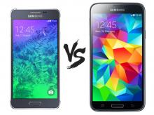 Samsung Galaxy S5 vs Samsung Galaxy Alpha