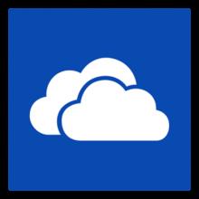 The logo for Microsoft OneDrive