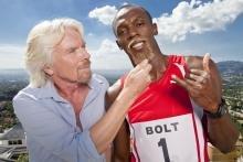 Virgin Media broadband advert with Richard Branson and Usain Bolt
