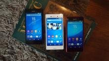 Sony Xperia M4 Aqua triple colours