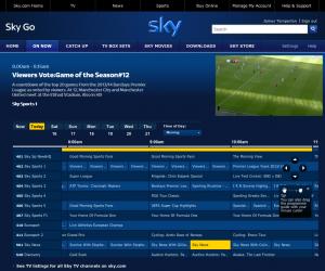 Sky Sports on Sky Go