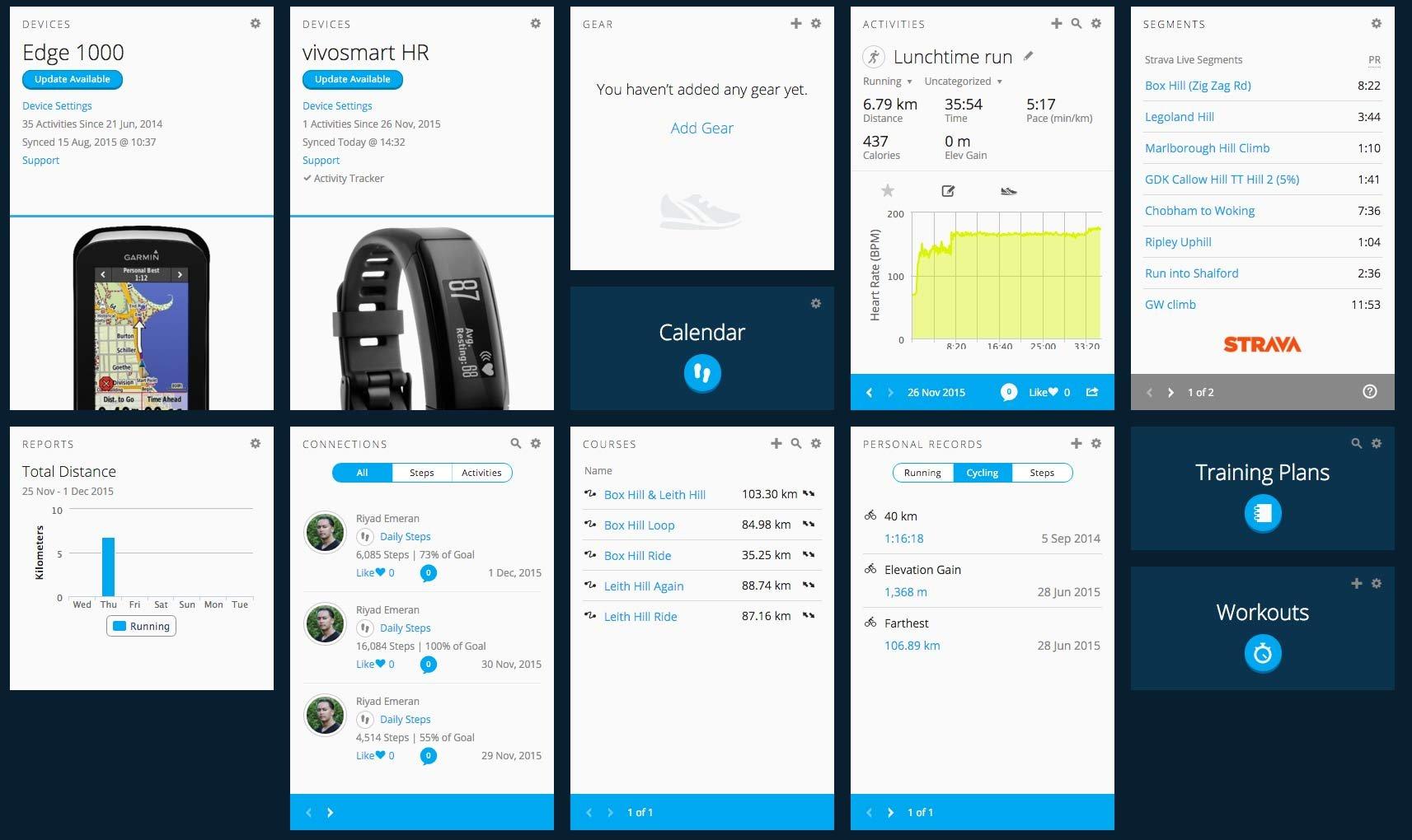Garmin Vivosmart HR - Alarms & alerts, Apps & website and