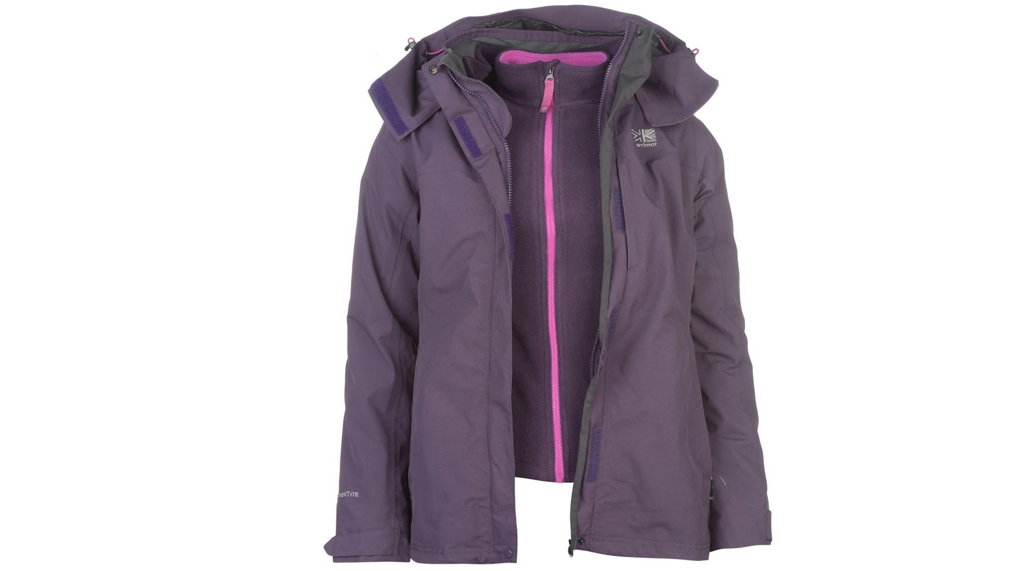 8e324f660555 Costing less than £50 makes this a huge bargain for a good waterproof jacket  already, but Karrimor's popular 3-in-1 model throws in a fleece as well, ...