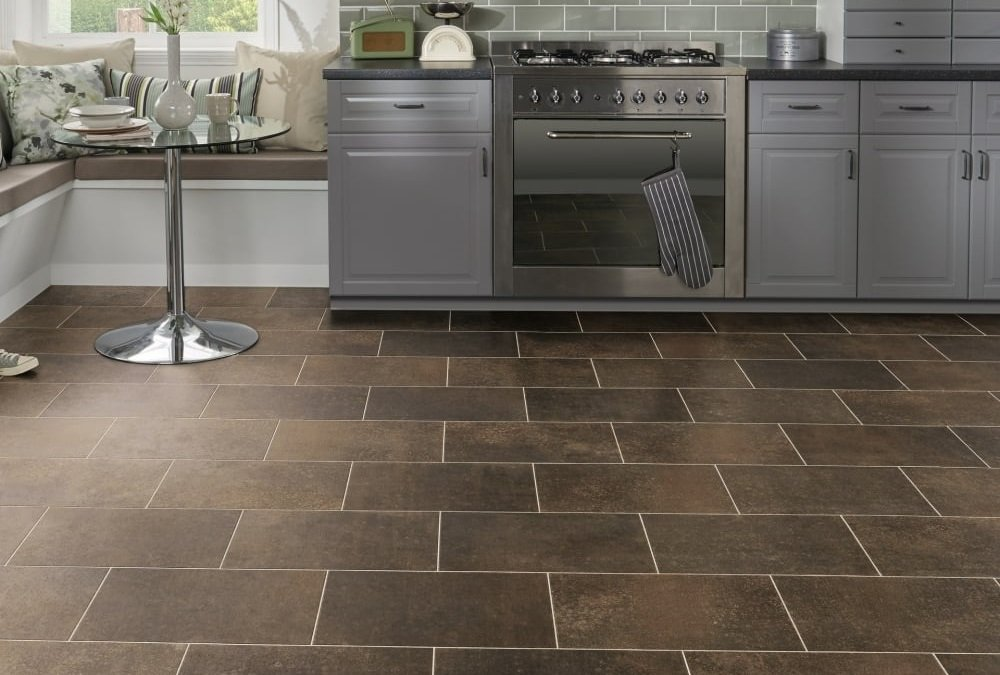 Kitchen Tile Flooring With Inspired By Weathered Steel Eisen Lvt Flooring Doesnt Just Tick The Box For Style Credentials Its Also Perfect Family Kitchen Best Kitchen 2018 The Toughest And Most Stylish