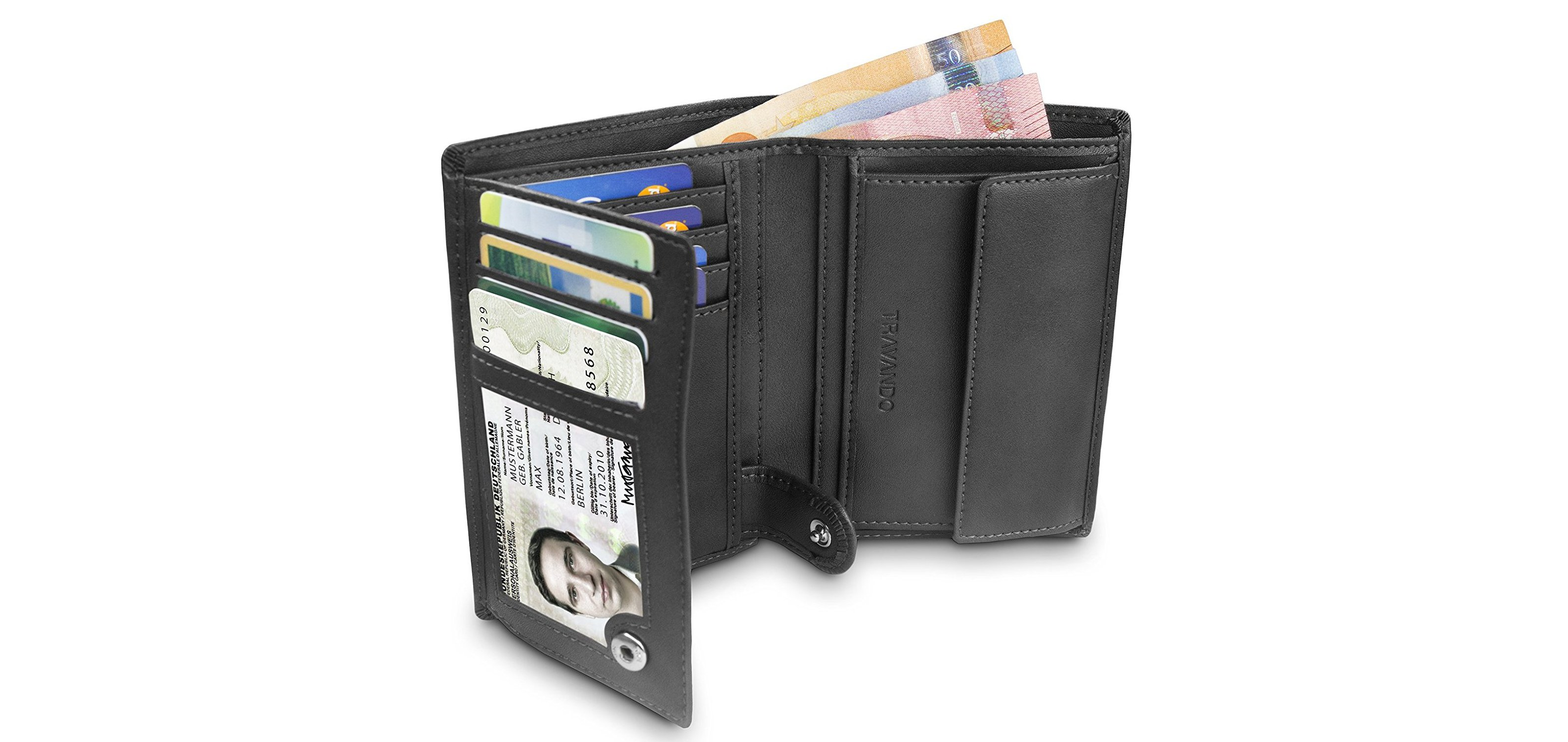 ac4f7d39860ed You don t need to buy real leather to get a stylish and practical wallet.  This Travando offering is the best faux-leather wallet on the market