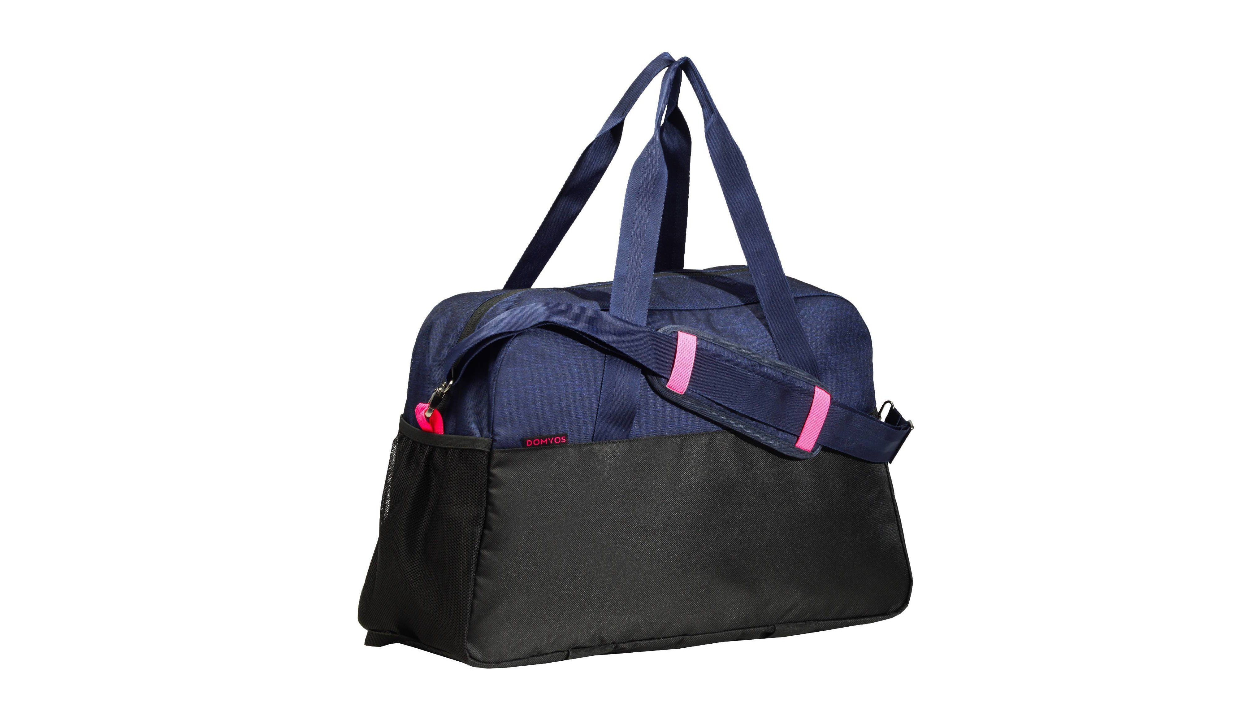 This bargain bag has all sorts of clever features such as elasticated  straps on the bottom to carry a yoga mat b87378a423862