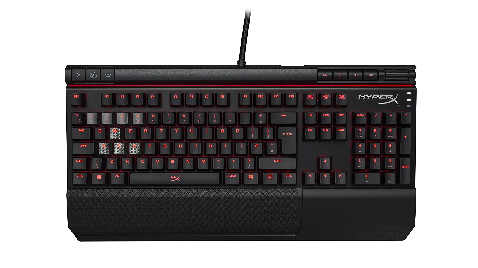 9edef24acc9 HyperX's Alloy Elite mechanical gaming keyboard is as rugged as keyboards  come. With a solid-steel frame as its top plate, the keyboard can survive a  lot of ...