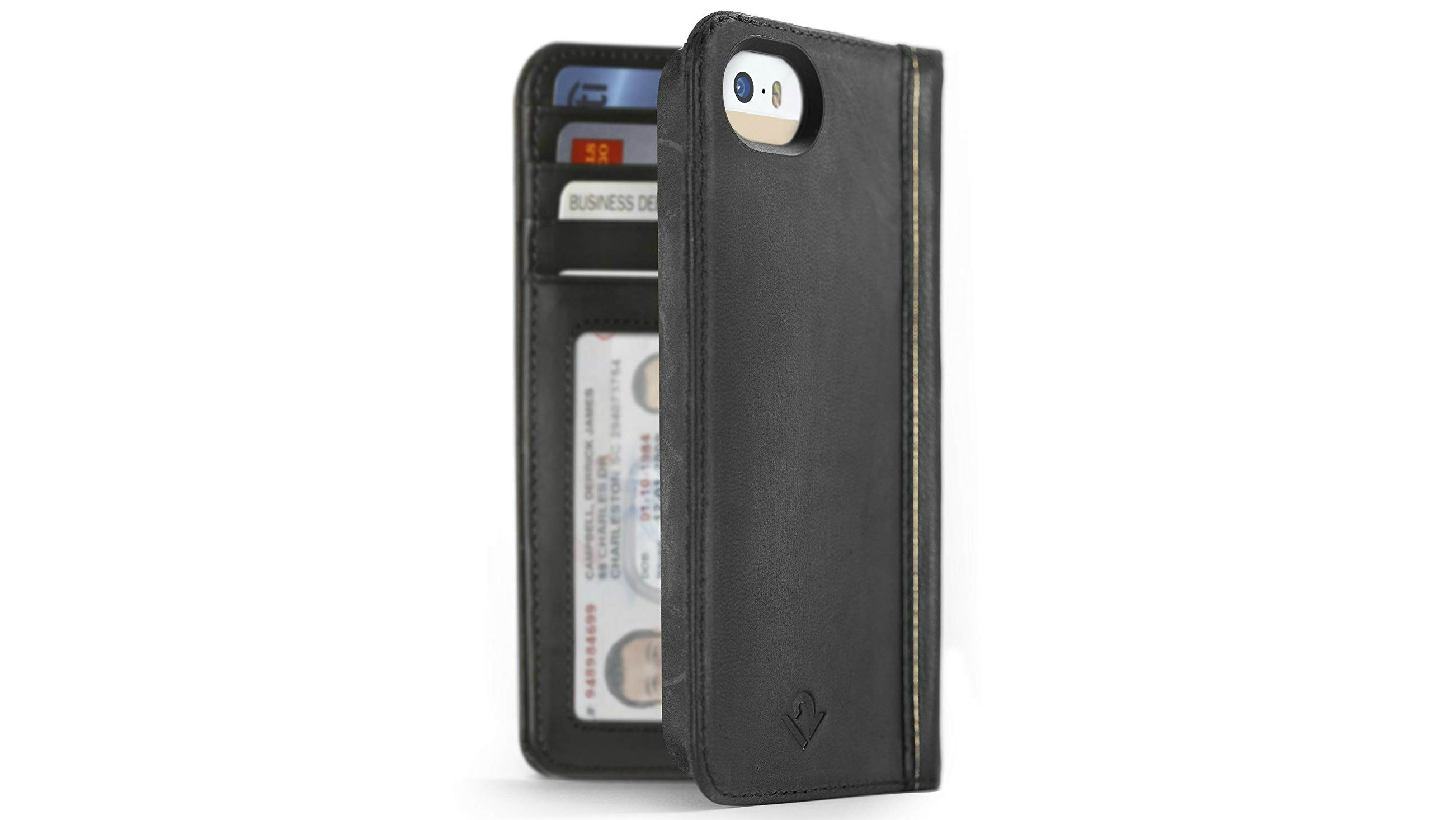 e7c2d25d0f This handmade, real leather wallet case transforms your iPhone SE into an  antiquated miniaturised copy of War and Peace – without the bulk.