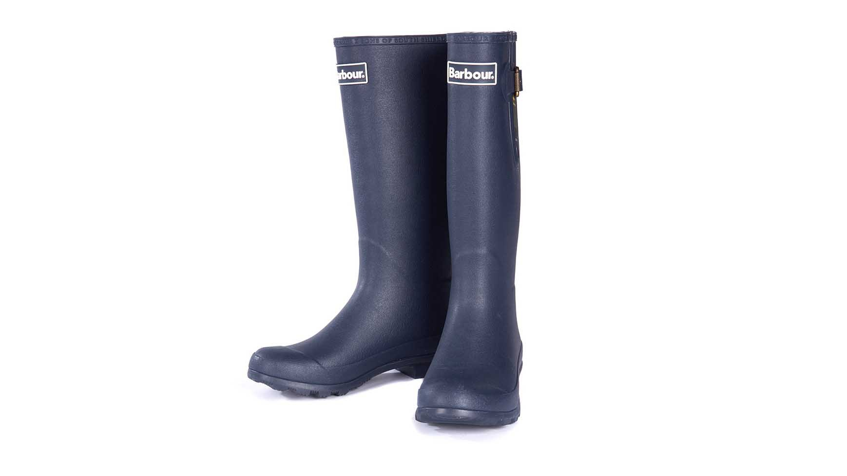 b16fa366605 The Barbour Cleadon wellies for women feature a lower leg length and a wider  calf to suit a range of leg shapes