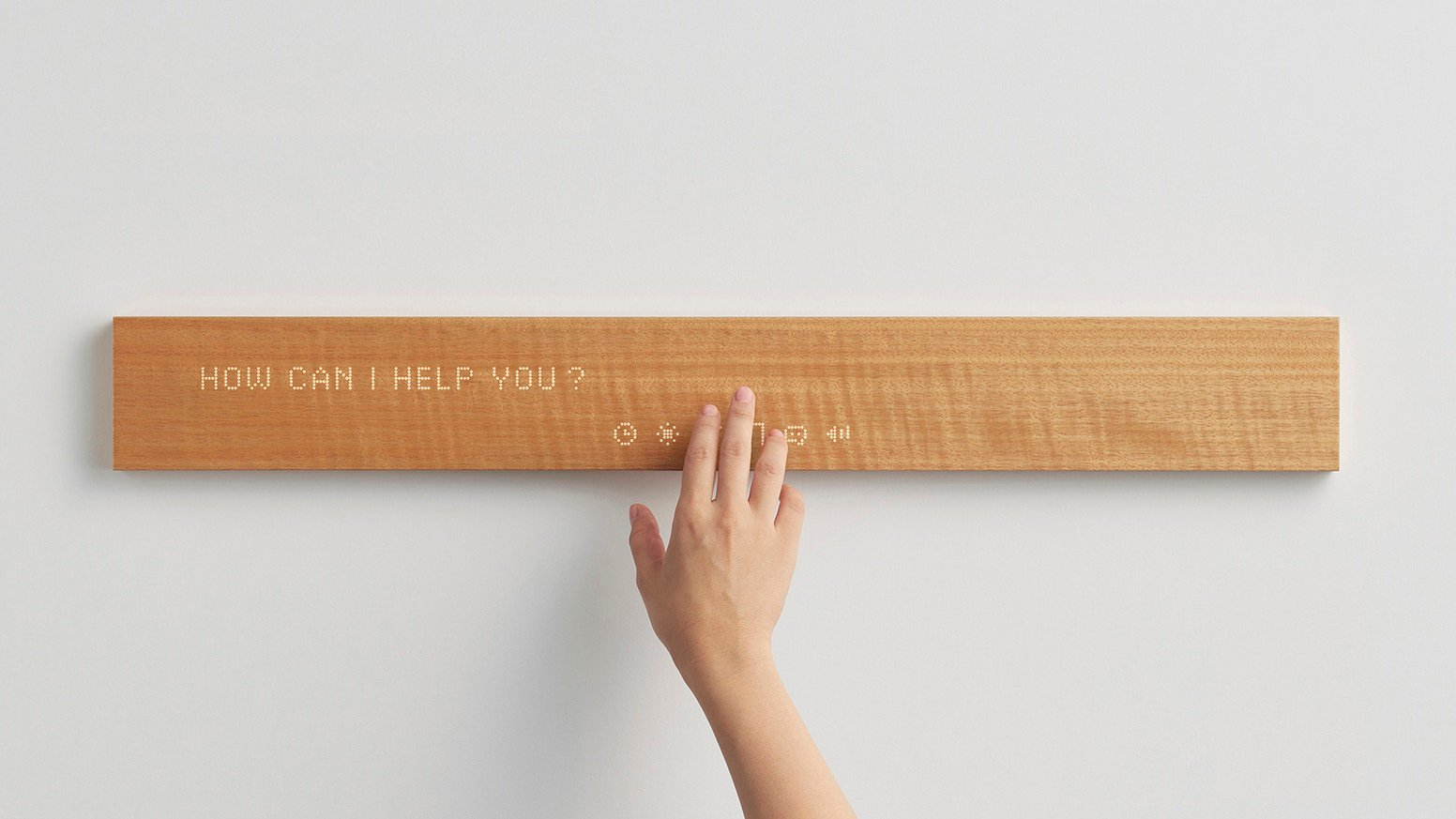 Mui's home hub is an internet-connected plank of wood